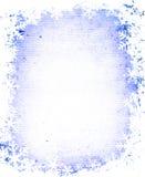 grunge ramowi płatki śniegu ilustracji
