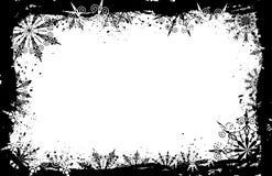 grunge ramowi płatki śniegu położenie ilustracji