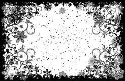 grunge ramowi płatki śniegu położenie Fotografia Stock