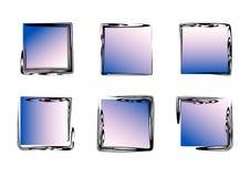 Grunge ramy Abstrakta kwadrata ramy set Kolorowe jaskrawe ramy ilustracji