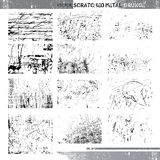 Grunge rasguñado vector del metal Imagen de archivo
