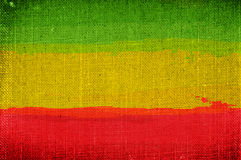 Grunge rasta flag Stock Photos