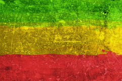 Grunge rasta flag Stock Images