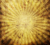 Grunge rays. Abstract yellow vintage grunge background with sun rays for multiple uses Stock Illustration
