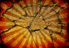 Grunge rays background with cracks Stock Image
