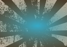 Grunge Rays - Blue Royalty Free Stock Photo