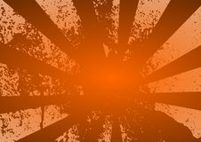 Grunge Rays - Orange Royalty Free Stock Images