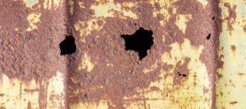 Grunge Rdzewiał Żółtego metal Obrazy Royalty Free