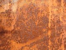 Grunge rdzewiał metal teksturę Ośniedziały korodowanie i utleniający tło zdjęcia stock
