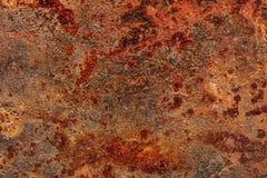 Grunge rdzewiał metalu prześcieradła tło Obraz Stock
