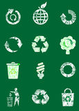 Grunge recycle icon set Stock Images