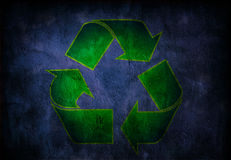 Grunge Recycle Symbol Stock Image
