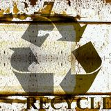 Grunge recycle symbol background Stock Photos
