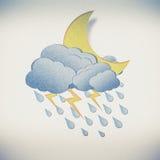 Grunge recycled pape rain Royalty Free Stock Photo
