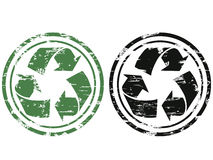 Grunge recycling stamp Stock Photography