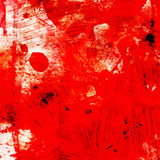 Grunge red background with splashes Stock Photography
