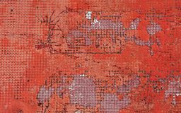 Grunge red background of vintage painted surface stock photo