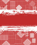 Grunge red background with white cages Royalty Free Stock Images