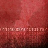 Grunge Red Binary Code Background Stock Photo