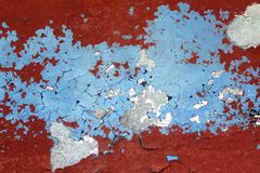 Grunge red and blue aged wall texture background Stock Images