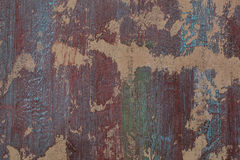 Grunge red and blue painted wall Stock Image