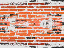 Grunge red brick background Royalty Free Stock Images