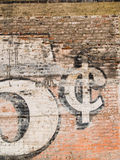 Grunge red brick wall Royalty Free Stock Images