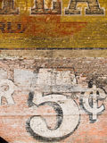 Grunge red brick wall. Background Stock Image
