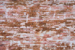 Grunge red brick wall background with copy space Royalty Free Stock Photos
