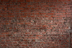 Grunge red brick wall background with copy space Royalty Free Stock Image