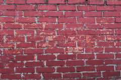 Grunge red brick wall. Old vintage brick wall. Abstract texture for designers Royalty Free Stock Photo