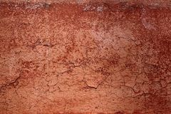 Grunge red brown aged crackle wall texture Royalty Free Stock Photography