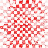Grunge red checkered Royalty Free Stock Image