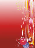 Grunge red Christmas background Royalty Free Stock Image