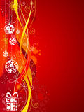 Grunge red Christmas background. Royalty Free Stock Image