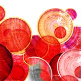 Grunge red circles Stock Images