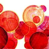 Grunge red circles Stock Photos