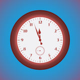Grunge red  clock Royalty Free Stock Photo