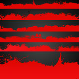 Grunge red color drawn splashes collection Stock Photos