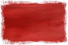 Grunge red contoured coconut paper. Box isolated with clipping path Royalty Free Stock Photo