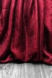 Grunge red curtain Royalty Free Stock Image