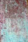 Grunge red green aged paint wall texture Royalty Free Stock Image