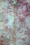 Grunge red green aged paint wall texture Royalty Free Stock Photography