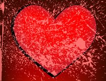 Grunge red heart Royalty Free Stock Photos