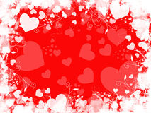 Grunge Red Heart Background Stock Photos