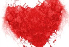 Grunge red heart Stock Photography