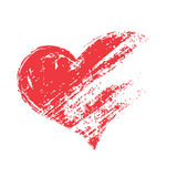 grunge red heart shape Stock Image