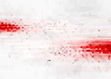 Grunge red hi-tech background with squares. Vector design Stock Photography