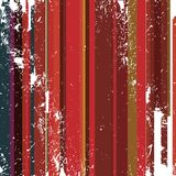 Grunge red hot stripes Stock Photography