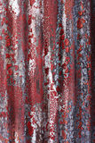 Grunge Red Paint on Steel Wall Royalty Free Stock Image